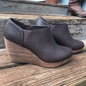 Dr Scholl's Harlow Wedge Brown Booties 8.5 New